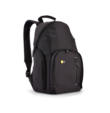 Case Logic TBC411K Compact DSLR Backpack/ Dobby Nylon/ Fits Devices: 19.1 x 13 x 19.1 cm, Black