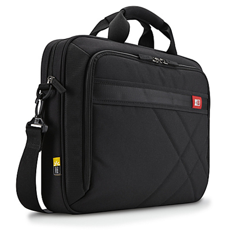 "Case Logic DLC115 Laptop Case for 15.6""/ Polyester/ Black/ (38.5 x 4.4 x 26.7 cm)"