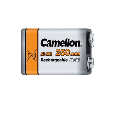 Camelion Rechargeable Batteries Ni-MH 9 Volt Block, 250 mAh, 1-pack (for smoke detector toys and other devices)