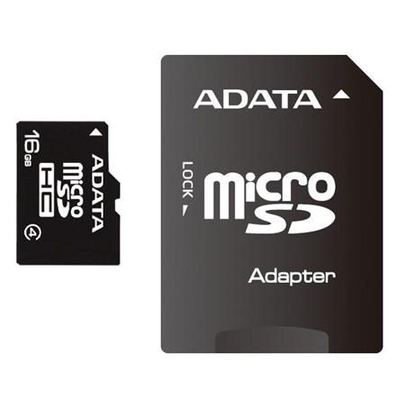 8GB microSDHC card with SD adapter (class 4), retail