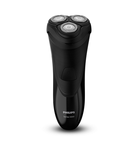 PHILIPS S1110/04 Shaver, Dry electric, CloseCut Blade System 4-direction Flex Heads, Pop-up trimmer, Black