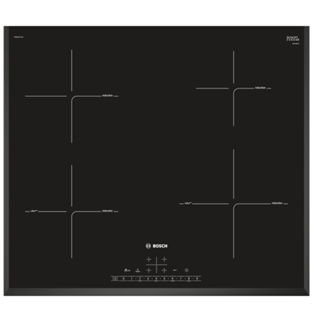 Bosch PIE651FC1E Induction Hob, powerBoost, Touch Control, 7400W, Black