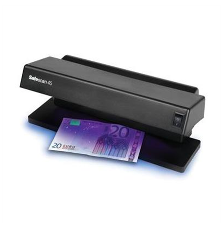 SAFESCAN 45 UV Money Checking Machine/ 2x6W UV lamp/ For all currencies/ Suitable for ID