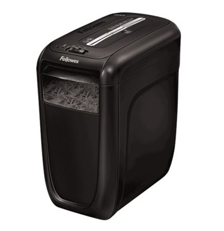 Fellowes Powershred 60Cs, sheet capacity per pass: 10, cross-cut, shreds staples, paper clips and plastic credit cards
